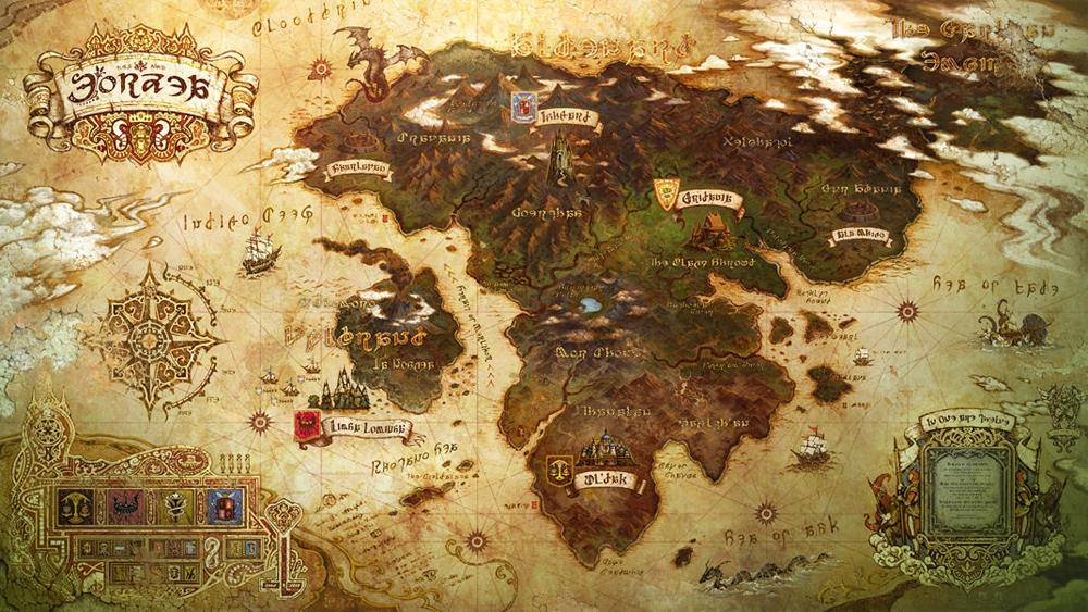 FF14の世界は、ハイデリンと呼ばれる大きな世界で成り立っています。ハイデリンは「三大州」で構成され、このうち「西州」にあたる「アルデナード小大陸」と周辺の島々